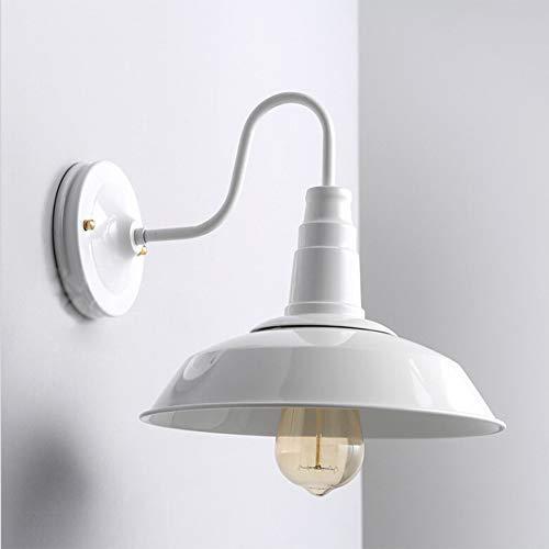 Industrial Lámpara de Pared Retro Vintage Aplique, Forma de Sombrero Iluminación de Pared, Iluminación...