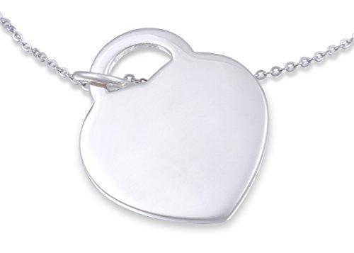 Juwelier Schönschmied - Unisex Partneranhänger aus Silber plattiert inkl. Gravur und Kette AHP2 - Sunset
