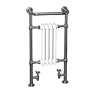 Traditional Bathroom Heated Towel Radiator 940 x 479 Chrome - 10 year guarantee
