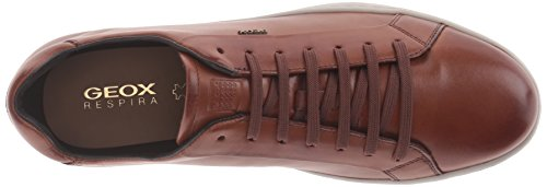 Geox Rikin, Scarpe da Ginnastica Basse Uomo Marrone (COGNACC6001)