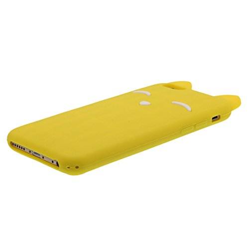 Coque iPhone 6S Mode Chat Style Forme Série Divers Couleur Silicone Gel Super Doux Coque Housse de Protection Case pour iPhone 6 / 6S 4.7 inch avec 1 stylet jaune