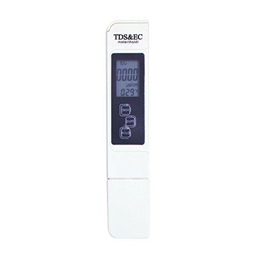 Fesjoy Digital TDS Messgerät, Wasser Qualität Tester, 3 in 1 Tragbarer EC-Meter Genaues professionelles TDS-, EC- und Temperaturmessgerät