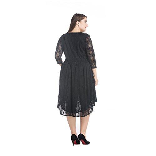 YL - Robe - Tulipe - Femme Noir