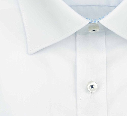 OLYMP - Chemise business - Uni - Col Chemise Classique - Manches Longues - Homme Blanc