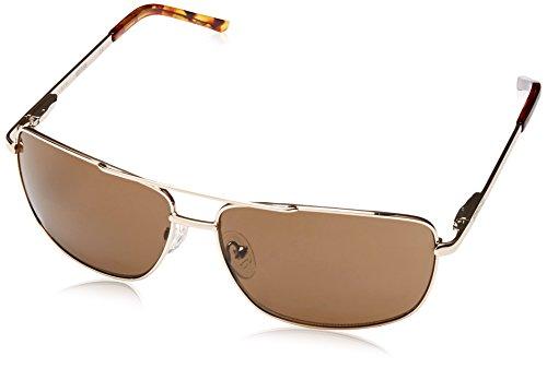 Kenneth Cole Reaction Kcr1076-0772 Men's Aviator Rose-Tone Sunglasses