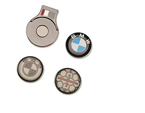 BMW Original Golfsport Ball Marker Set Magnetischer Cap Clip Ballmarker