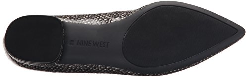 Nine West Onlee Toe Pointy synthétique plat Off White/Black