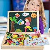 Zamango Magnetic Drawing Boards Wooden Educational Toys Magnetic Jigsaw Puzzles Toy Easel