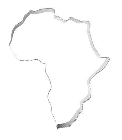 Ausstechform Ausstecher XL Afrika, 11cm, Edelstahl