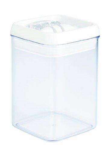 Novastyl 4036178Aloe Topf stapelbar Kunststoff Transparent Deckel weiß 2,4l