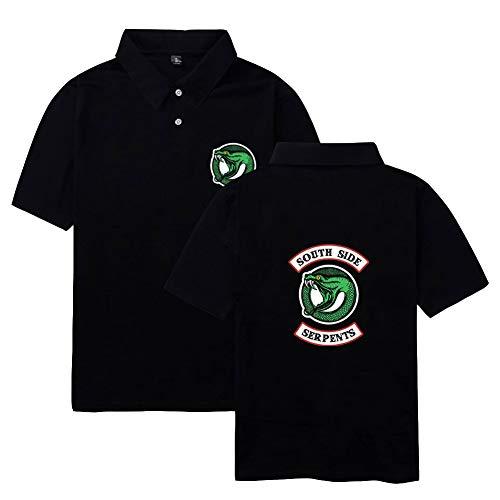 Riverdale Southside Serpents Unisex Herren Damen Polo Shirt Kurzarm Sommer Oberteile Bedruckt Bekleidung Sport Tee Tops T-Shirt - Archie Andrews Kostüm