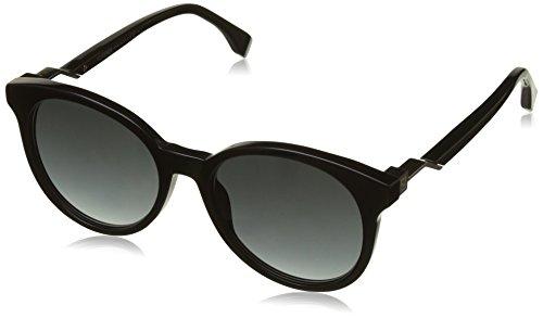 Fendi ff 0231/s 9o 807, occhiali da sole donna, nero (schwarz), 58