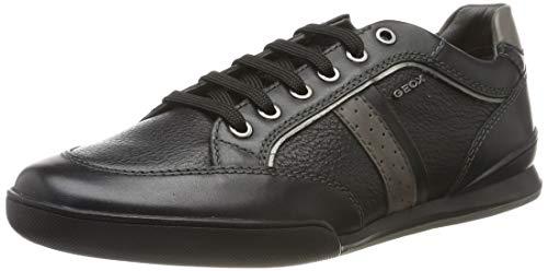 Geox Herren U Kristof A Sneaker, Schwarz (Black C9999), 44 EU
