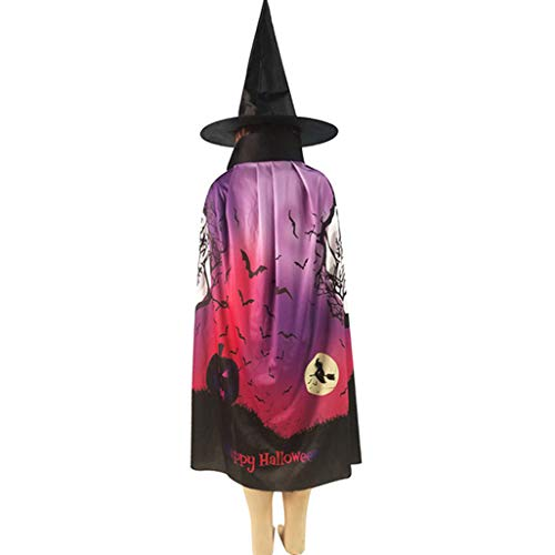 Kostüm Boy Ghost - QTBWen Praised Cosplay Halloween Party Ghost Bat Capes Hooded Cosplay Kostüm Fabric Horror Halloween Cloak for Boy and Girl(None H03)