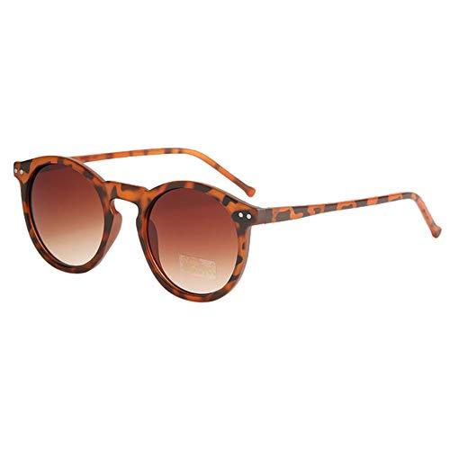 Holeider Sonnenbrille Rund Damen Unisex Retro Vintage Sonnenbrille im angesagte 60er Browline-Style, Sonnenbrille Herren Verspiegelt