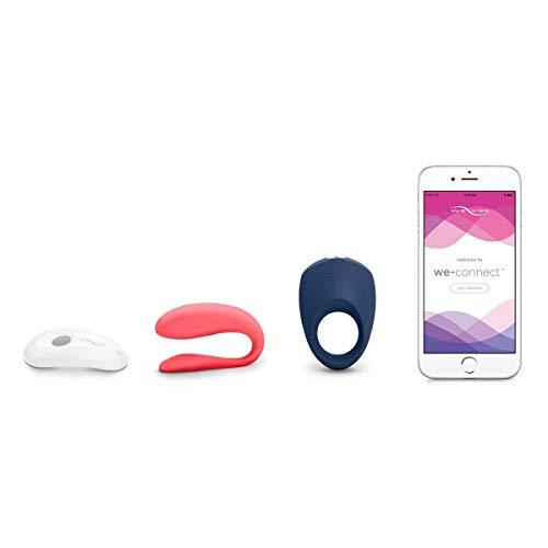 We-Vibe Sensations Unite Sex-Toy-Set aus Unite Vibrator mit Pivot Ring und exklusivem Gleitgel, mit Fernbedienung, Perfektes Geschenk für Paare, G-Punkt und Klitoris, Wasserdicht & Wiederaufladbar -