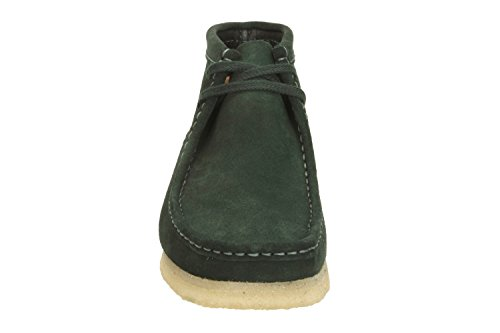 Clarks Originals Mens Wallabee Suede Boots Vert