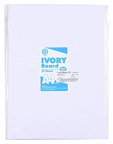 Shipra Ivory Sheets - 210 GSM, 11.5 inches x 8.5 inches x 0.1 inch, 25 Sheets