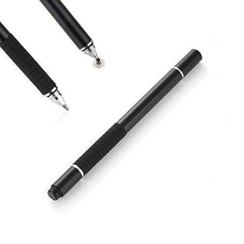 Präziser Eingabestift & Kugelschreiber für Tablet und Smartphone, Handy Stylus mit Disk für Kapazitive Touchscreen, Apple Samsung Lenovo (schwarz)