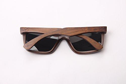 jinyuebrand 100% bambú Gafas de Sol con protección UV400, Hombre, Mujer, Unisex–Madera, Gafas de Sol Hombre Gafas de Sol UV 400Hombre
