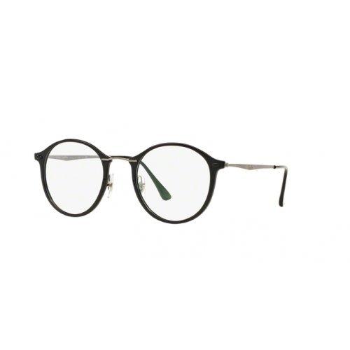 Rayban Unisex-Erwachsene Brillengestell RX7073, Schwarz (Shiny Black), 49