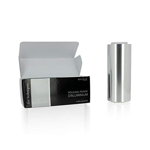 Papier aluminium mèches 15 microns, 15cmx100m, Beautélive