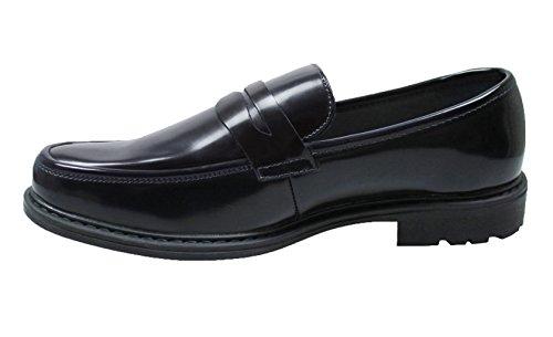 Ak collezioni mocassini uomo class nero ecopelle scarpe slip on eleganti man's shoes (43)