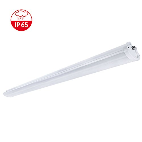 4FT 50W LED Batten Fittings, 1200mm IP65 Waterproof External Tube Light, 6000K (Bright White), Commercial LED Lighting, Indoor/Outdoor Ceiling Lights, [Energy Class A+]