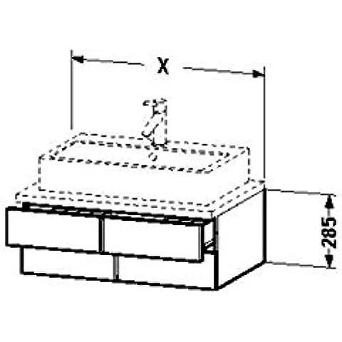 Duravit lavabo debajo del gabinete para consola Vero 518 x 600 x 285 mm 2 cajones, madera de nogal de cepillado, VE657006969