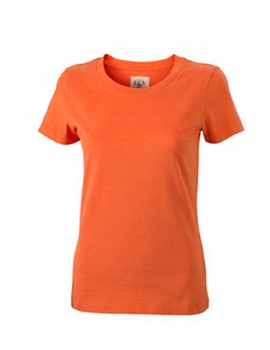 James & Nicholson - T-Shirt Ladies' Vintage, Camicia di maternità Donna, Arancione (dark-orange), Medium (Taglia Produttore: Medium) Arancione (dark-orange)