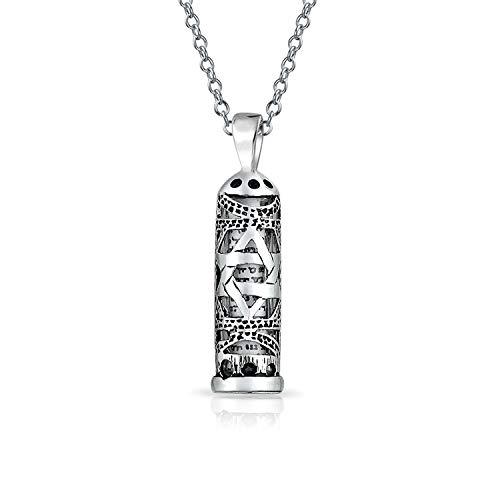 Hanukkah Davidstern Magen Jüdisches Pergament MesUSA Anhänger Kabbala Halskette Für Männer Frauen 925 Sterling Silber -