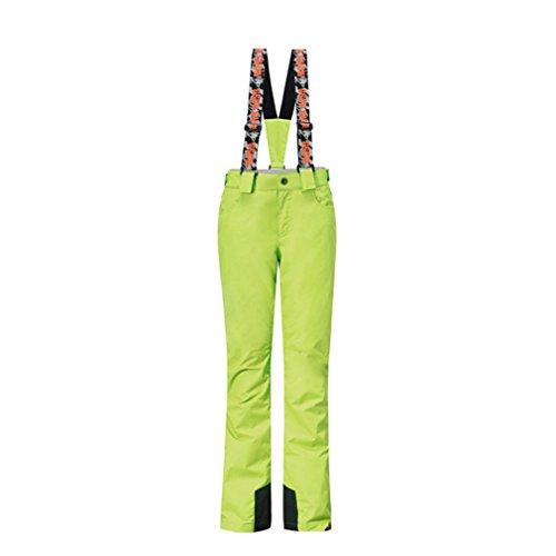 GSOU SNOW Damen Wasserdicht Winddicht Warm Padded Skihose Wintersport Outdoor Schnee Snowboard Hosen Salopettes Overalls (Large, Grün) - Snowboard-hose Grüne