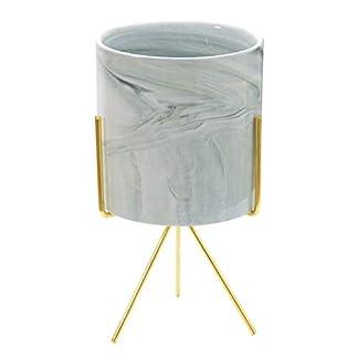 RONGRONG Maceta de cerámica con Maceta Simple Decorada con Planta Verde de Interior, Maceta de mármol para Escritorio (Color : A)