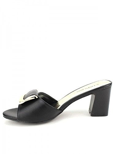 Cendriyon, Sandale Noire STEPHAN Chaussures Femme Noir