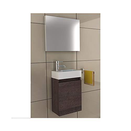 bad1a Waschbeckenunterschrank Badezimmer Möbel-Set 40x22 cm in Alamo Eiche, Waschplatz au