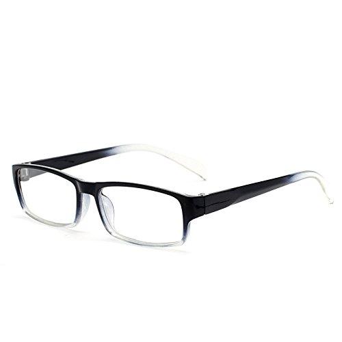 VEVESMUNDO Herren Damen Lesebrillen Lesebrille Rechteckige Designer Brille Augenoptik Sehhilfe Lesehilfe mit Sehstärke LANOMI NEU DESINGER (Schwarz, 2.0)