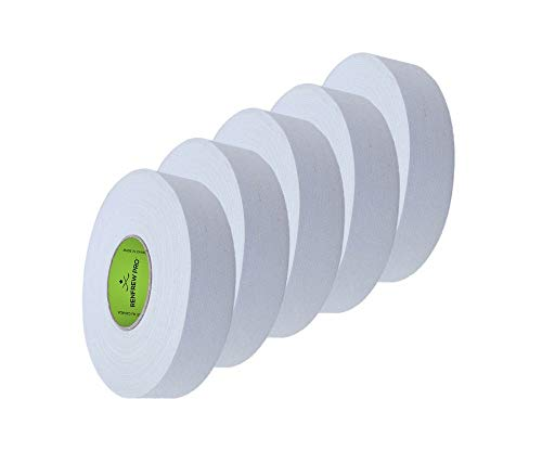 5X Renfrew Schlägertape Pro Balde Cloth Tape weiß 24mm f. Eishockey, je 25m -