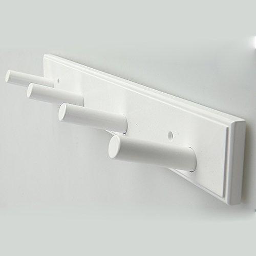 ZHEN GUO Kleiderständer an der Wand befestigter hölzerner Kleiderbügel mit Haken für Mantel-Hut-Tuch (Farbe : Weiß, größe : 4 Hooks 48.5cm-Style 1) (48 Zoll-wand-kleiderbügel)