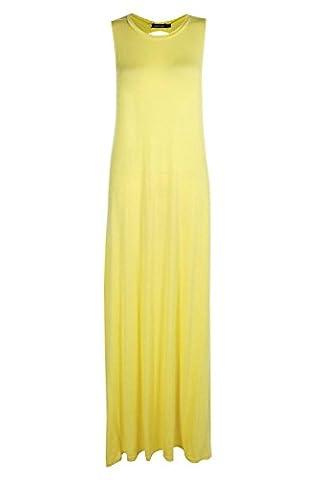 Yellow Womens Lola Twist Back Detail Maxi Dress - 6
