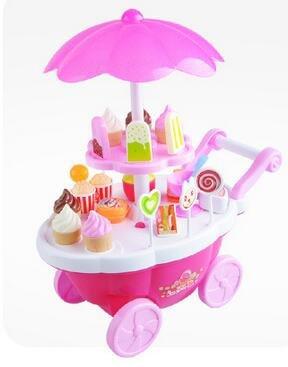 Pinzhi-Jeu-Dimitation-Jouet-Chariot-lectrique-Bonbons-Rose-Crme-Glace-Sucreries-Jouet-Jeu-de-Rle-pour-Enfants