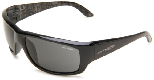 Arnette Herren Sonnenbrille Cheat Sheet Schwarz (Black/Gray), 63