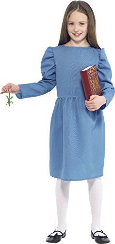 ld Dahl Matilda Kostüm mit Kleid Newt und Buchen, blau (Roald Dahl Matilda Kostüm)