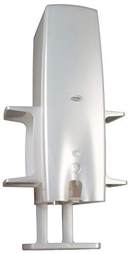 Windelbox perlweiß mit Feuchttuchhalter und Ablagen zur Wandmontage