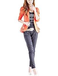 1809632a5657 Betrothales Blazer Donna Lunga Elegante Giacca Tailleur con Manica Bavero da  Slim Fit Primaverile con Volant Fashion Business Ufficio Coat…