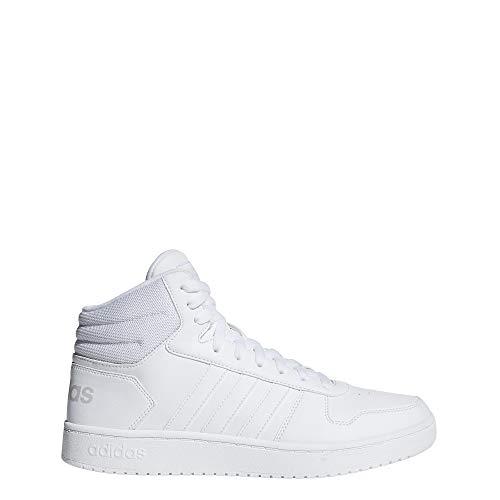 Adidas hoops 2.0 mid, scarpe da basket uomo, bianco ftwwht, 42 2/3 eu