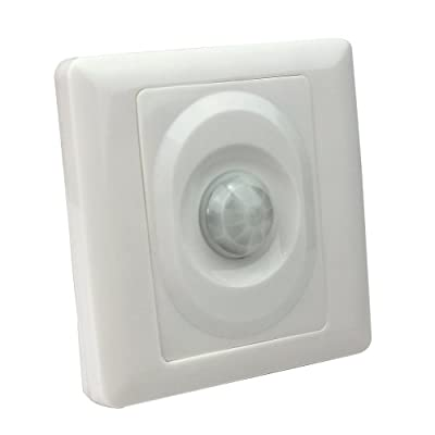 Infrared IR White Automatic Motion Sensor Lamp Wall Ceiling Light Control Switch produced by JRing - quick delivery from UK.