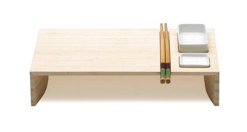 Legnoart Bambo Kobe - Juego de sushi, con cuencos de cerámica y palillos