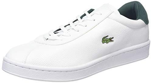 Lacoste Herren Masters 319 1 SMA Sneaker, Weiß (Wht/Dk Grn 1r5), 43 EU