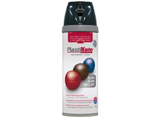 Plasti-kote 21100 400ml Premium Spray Paint - Gloss Black Test