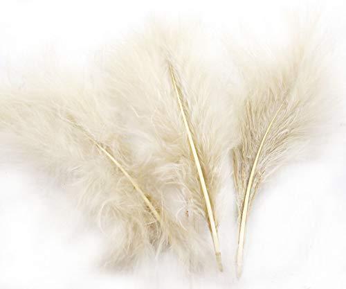 8pcs Beige Creme Braun Gefärbten Flauschigen Daunen Federn, Marabu-Türkei DIY Hut Hochzeit Schmuck-Kostüm-Dreamcatcher-7-23cm